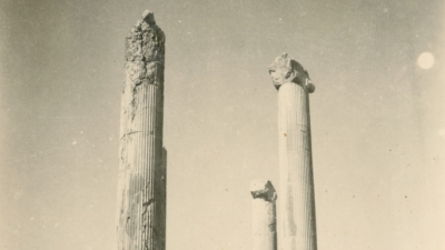 Persepolis, Persia (now Iran) - one of several stages of the journey from USSR to India, 1942, private archives
